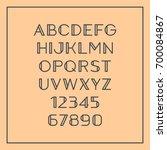 sans serif font with elegant... | Shutterstock .eps vector #700084867
