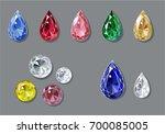 sketch like diamonds and... | Shutterstock .eps vector #700085005