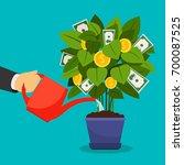 growing money tree vector...   Shutterstock .eps vector #700087525