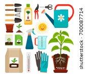 care of houseplants and indoor...   Shutterstock .eps vector #700087714