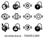 set of simple icons on a theme... | Shutterstock .eps vector #700091389