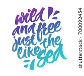 wild and free just like the sea.... | Shutterstock .eps vector #700092454
