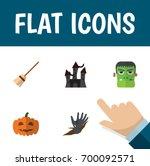flat icon celebrate set of... | Shutterstock .eps vector #700092571