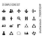 set of 20 editable team icons....