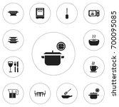 set of 12 editable restaurant...