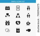 set of 12 editable amour icons. ... | Shutterstock .eps vector #700096375