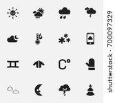 set of 16 editable weather...