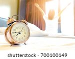 morning of a new day  alarm... | Shutterstock . vector #700100149