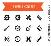 set of 12 editable service...