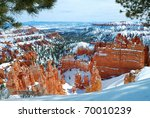Bryce Canyon Panorama With Snow ...
