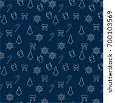 christmas seamless pattern with ... | Shutterstock .eps vector #700103569