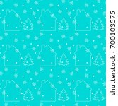 christmas seamless pattern with ... | Shutterstock .eps vector #700103575