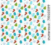 christmas seamless pattern with ... | Shutterstock .eps vector #700103599