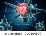 3d rendering virus bacteria... | Shutterstock . vector #700104607