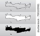 vector map of crete in three... | Shutterstock .eps vector #700105981