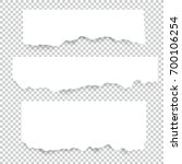 set of blank torn paper sheets. ... | Shutterstock .eps vector #700106254