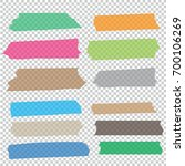 collection of adhesive tape... | Shutterstock .eps vector #700106269