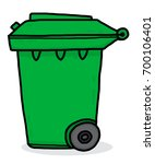 recycle trash bin   cartoon... | Shutterstock .eps vector #700106401
