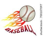 a flaming baseball ball on fire ... | Shutterstock .eps vector #700107097