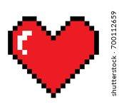 pixel heart | Shutterstock .eps vector #700112659