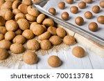homemade 'pepernoten' or ... | Shutterstock . vector #700113781