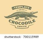 crocodile logo   vector... | Shutterstock .eps vector #700115989