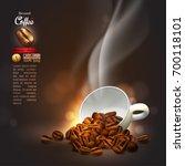design of advertising coffee... | Shutterstock .eps vector #700118101