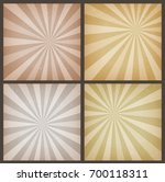 abstract vintage sunbeams... | Shutterstock .eps vector #700118311