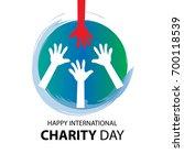 international day of charity   Shutterstock .eps vector #700118539