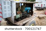 old diesel generator with oil...   Shutterstock . vector #700121767