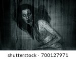 3d illustration of scary ghost... | Shutterstock . vector #700127971