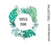 Round Tropical Frame  Template...