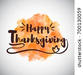 happy thanksgiving greeting... | Shutterstock .eps vector #700130059