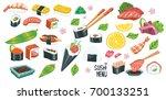 ultimate big set of japan asian ... | Shutterstock .eps vector #700133251