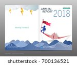 cover design annual report ... | Shutterstock .eps vector #700136521