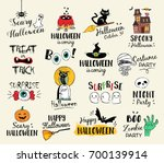 happy halloween hand drawn... | Shutterstock .eps vector #700139914