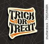 vector poster with halloween... | Shutterstock .eps vector #700144684