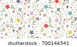 simple cute pattern in small... | Shutterstock .eps vector #700146541