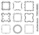 vintage swirl frame set.... | Shutterstock .eps vector #700148881