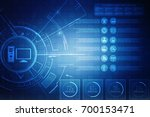digital abstract technology... | Shutterstock . vector #700153471