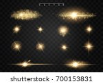 set. shining star  the sun... | Shutterstock .eps vector #700153831