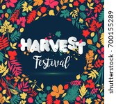 text harvest festival in paper... | Shutterstock . vector #700155289