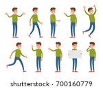a man in cartoon style dressed... | Shutterstock .eps vector #700160779
