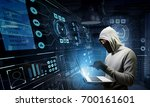 computer privacy attack. mixed... | Shutterstock . vector #700161601