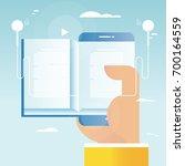 audio book  online education  e ... | Shutterstock .eps vector #700164559
