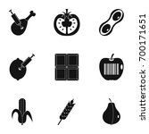 biotechnology icon set. simple... | Shutterstock .eps vector #700171651