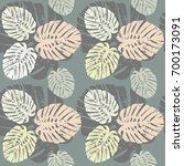 tropical seamless pattern with... | Shutterstock .eps vector #700173091