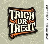 vector poster with halloween... | Shutterstock .eps vector #700182355