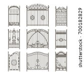Iron Gates With Decorative...