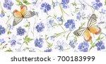Purple Flower Petals Leaves An...